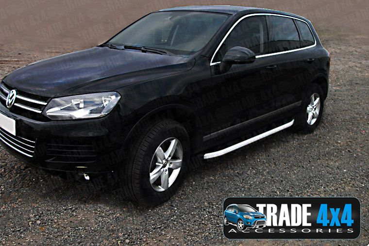 vw touareg side steps alyans low trade prices tva styling. Black Bedroom Furniture Sets. Home Design Ideas