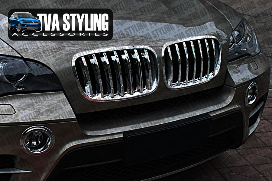 bmw x5 2007 13 chrome front grille cover surround trim. Black Bedroom Furniture Sets. Home Design Ideas