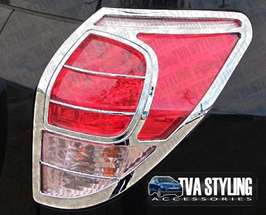 toyota rav4 2006 10 chrome rear tail light surrounds covers. Black Bedroom Furniture Sets. Home Design Ideas