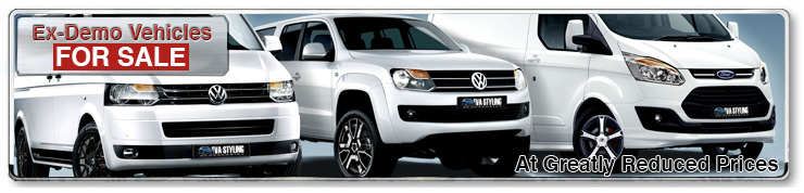 Ex-Demo Vehicles for sale | VW Ford Custom & More | TVA and Trade Van Styling Accessories