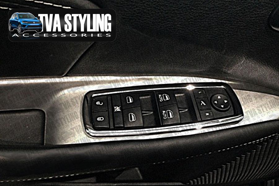 Jeep cherokee kl 2014 on chrome interior window switch covers for Jeep cherokee interior accessories