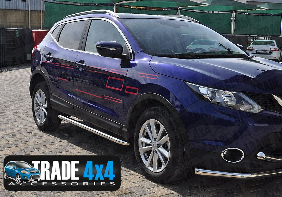 Nissan Qashqai 2014 Side Bars Ss001 Stainless Steel