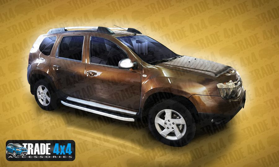 dacia duster side steps sidesteps duster 4x4 accessories dacia duster running boards steps. Black Bedroom Furniture Sets. Home Design Ideas