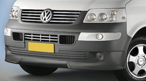 VW T5 Accessories for T5 Transporter Van and Caravelle Cobra bumper spoilers available in PU Tough Plastic  at Trade Van Accessories. UK Nottingham Mansfield east midlands