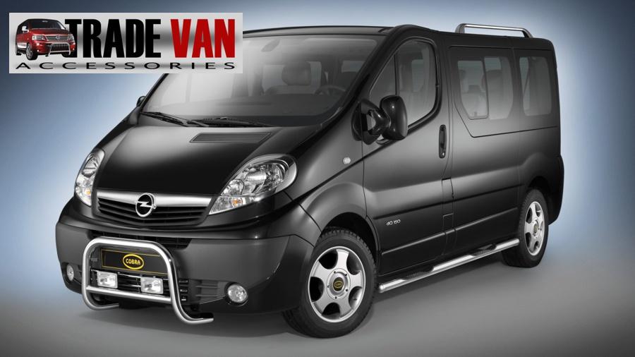 Cobra Side Bars with 4 Steps Vivaro Trafic Primastar Van SWB - Trade Van Accessories 4x4 Styling ...