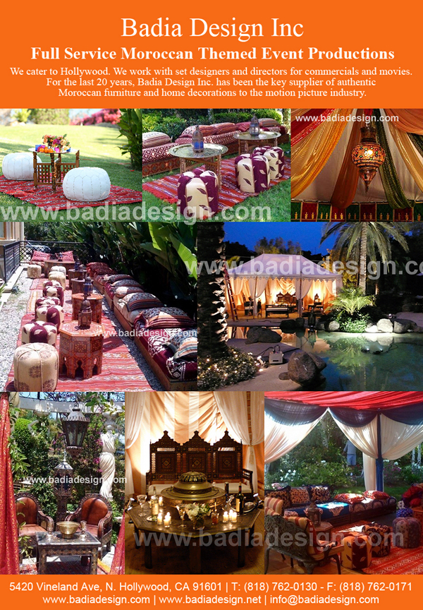 Moroccan Themed Movie And Party Rental With