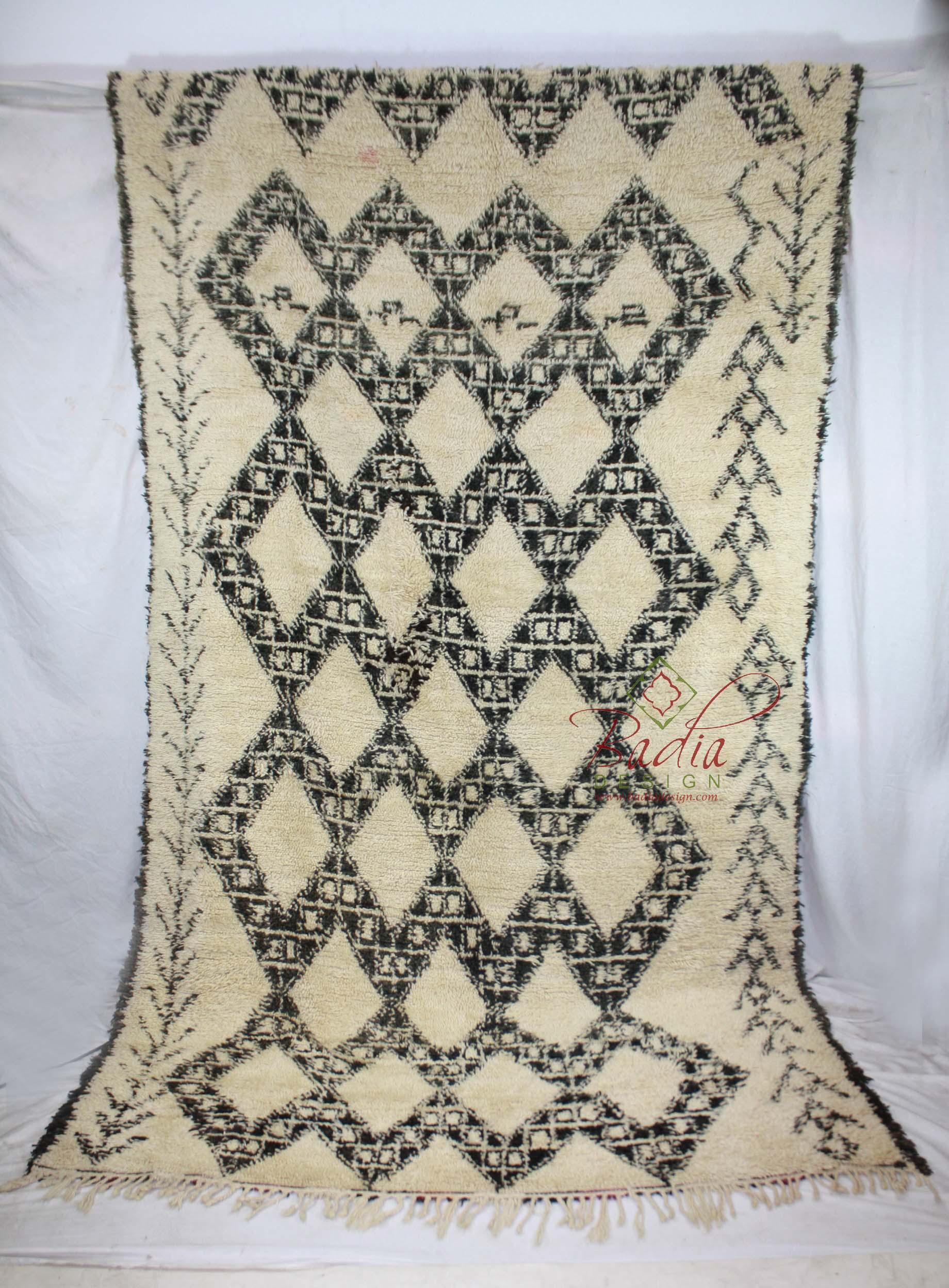 moroccan beni ourain rug from badia design inc. Black Bedroom Furniture Sets. Home Design Ideas