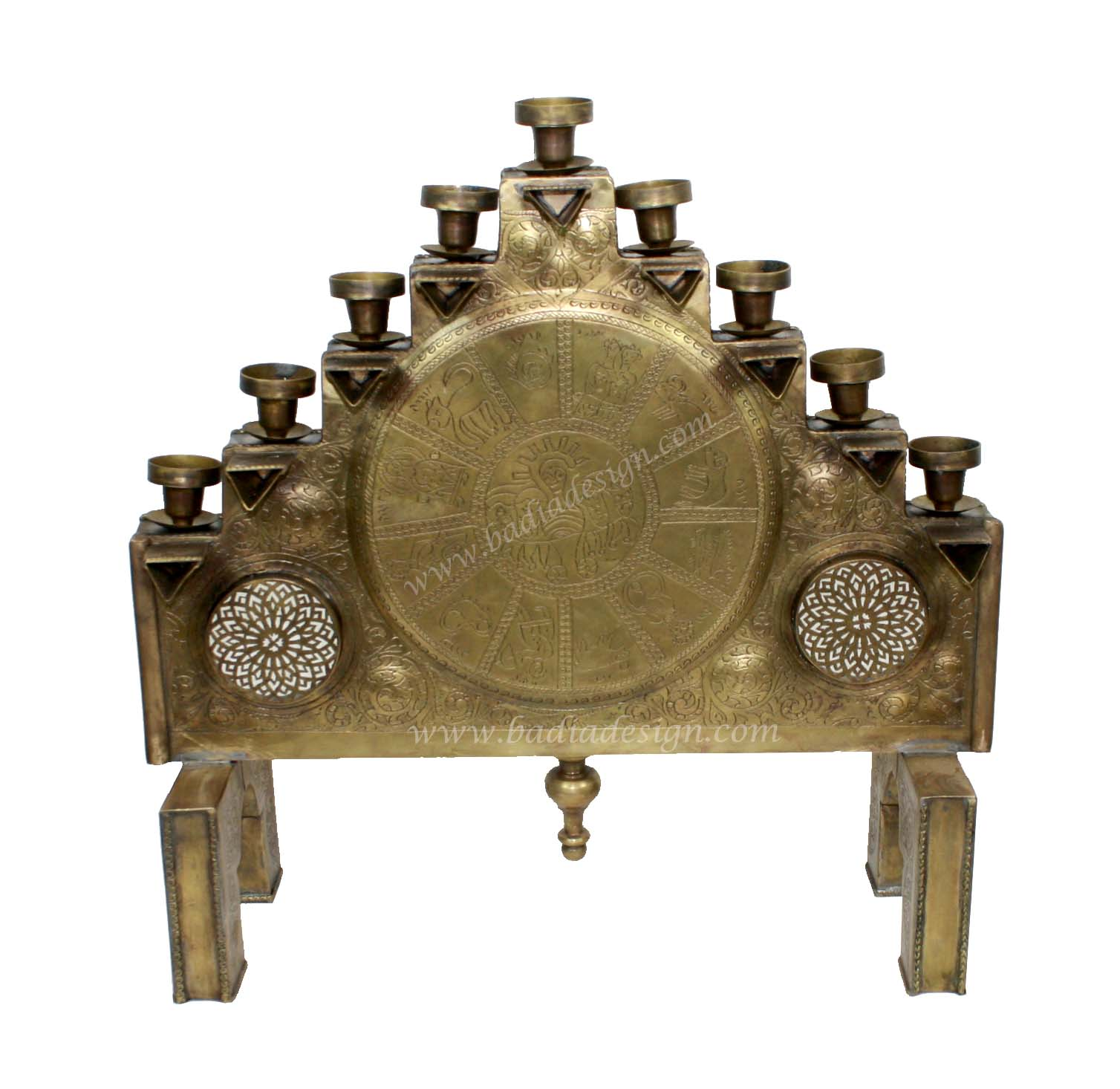 Morocca Brass Candle Holder