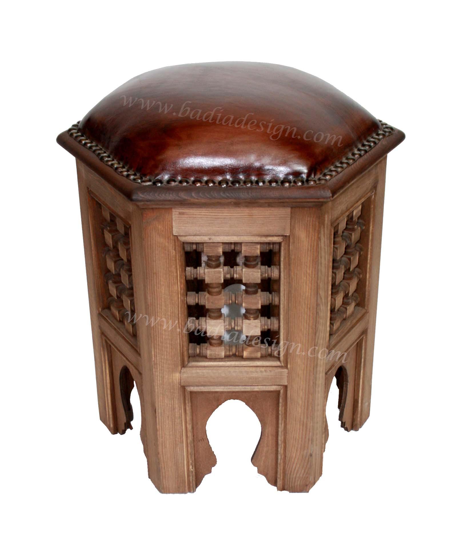 Brown leather ottoman - Brown Leather Ottoman 32
