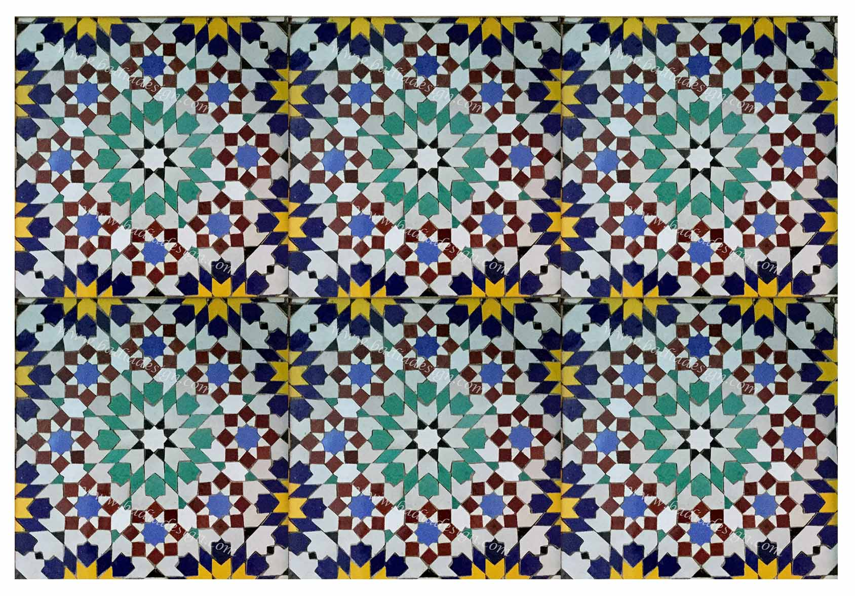 Moroccan mosaic floor tile from badia design inc dailygadgetfo Image collections