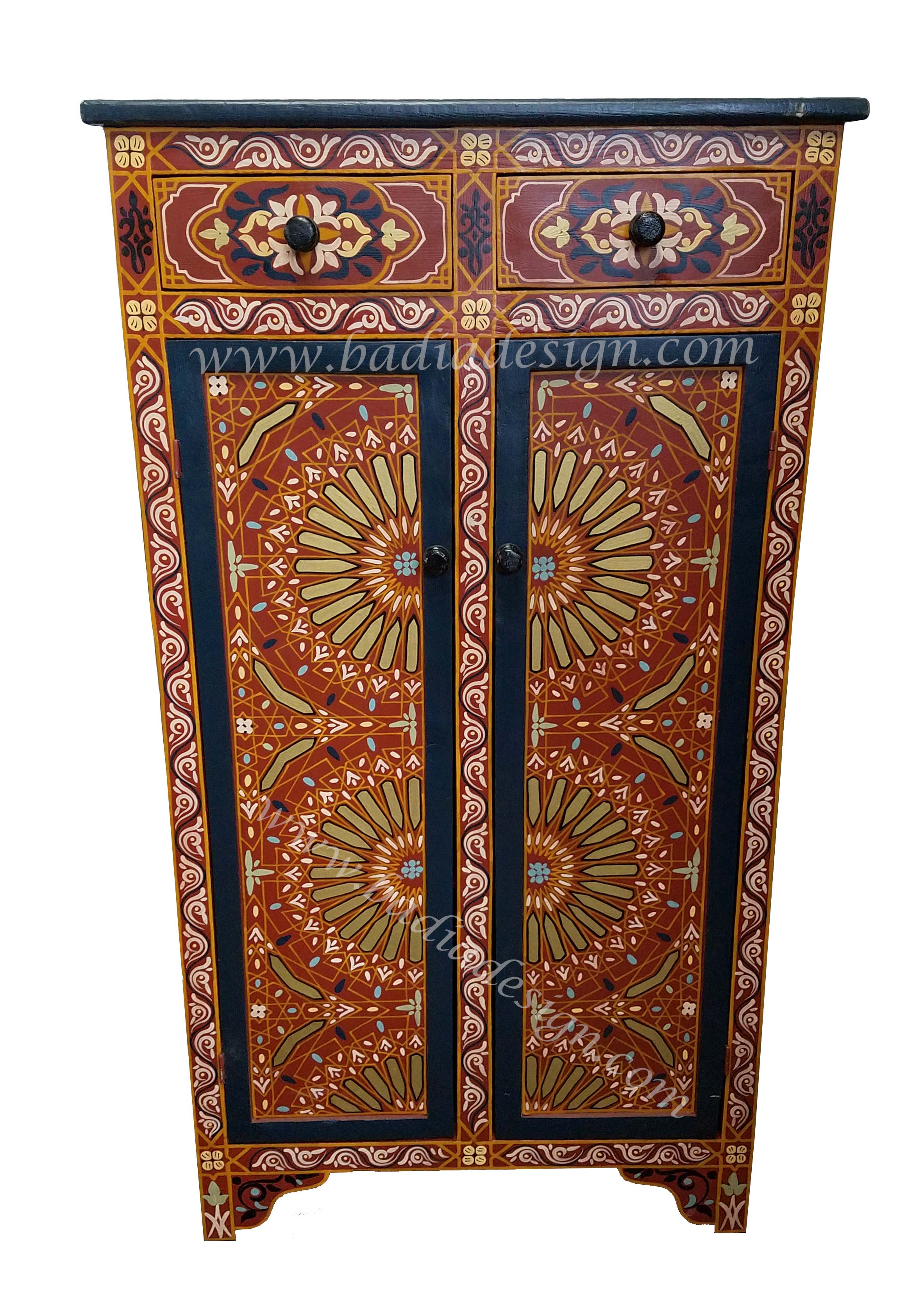 Moroccan Hand Painted Cabinet Hp Ca030 1