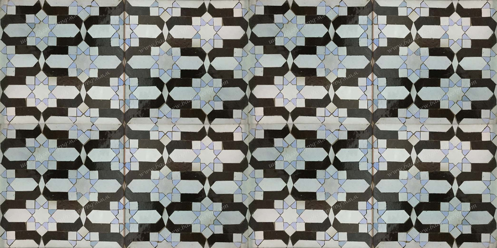Moroccan zellij tile from badia design inc moroccan mosaic floor tile dailygadgetfo Image collections