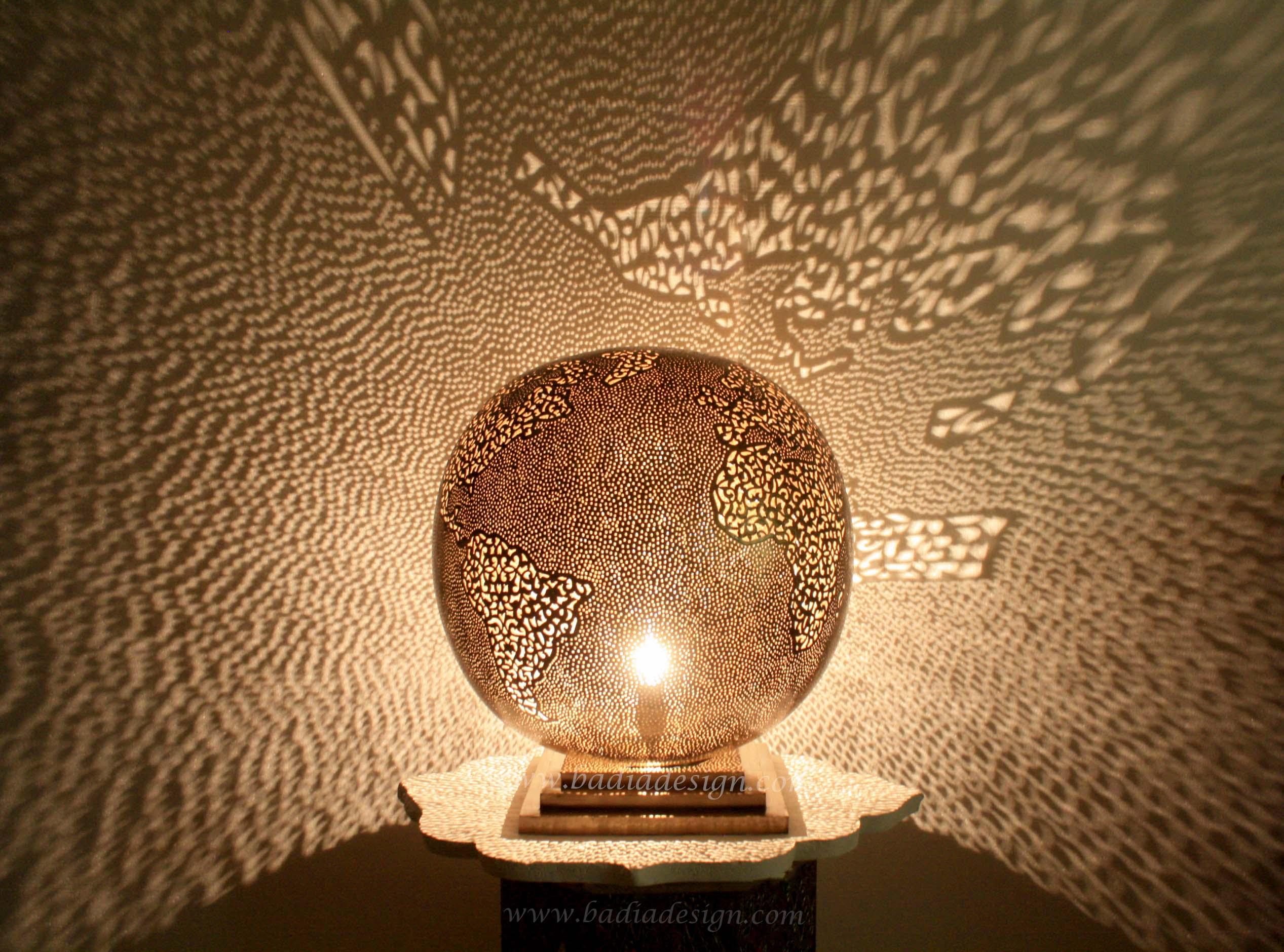 Moroccan Round Globe Brass Lantern