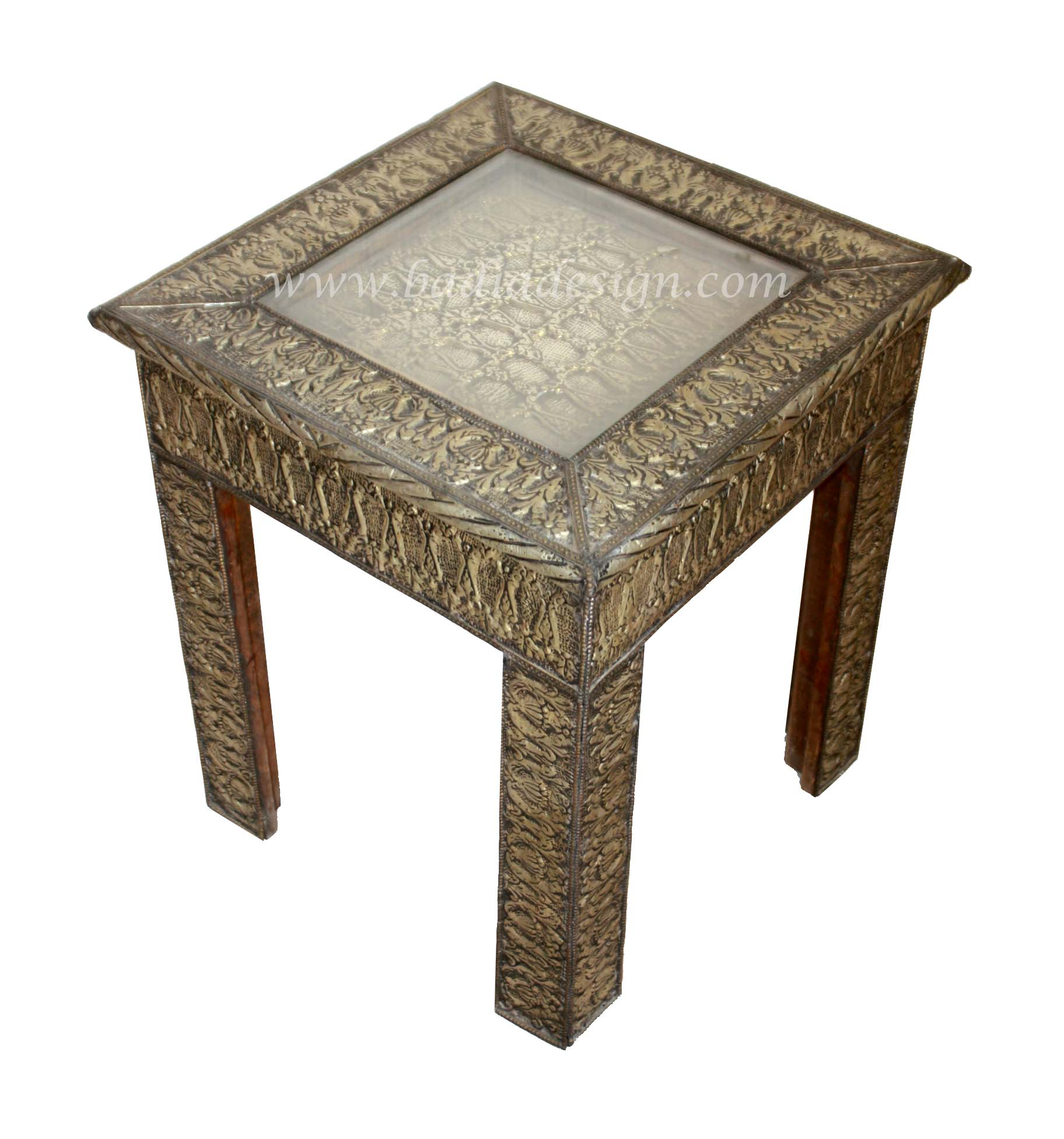 Moroccan Silver Nickel Coffee Table
