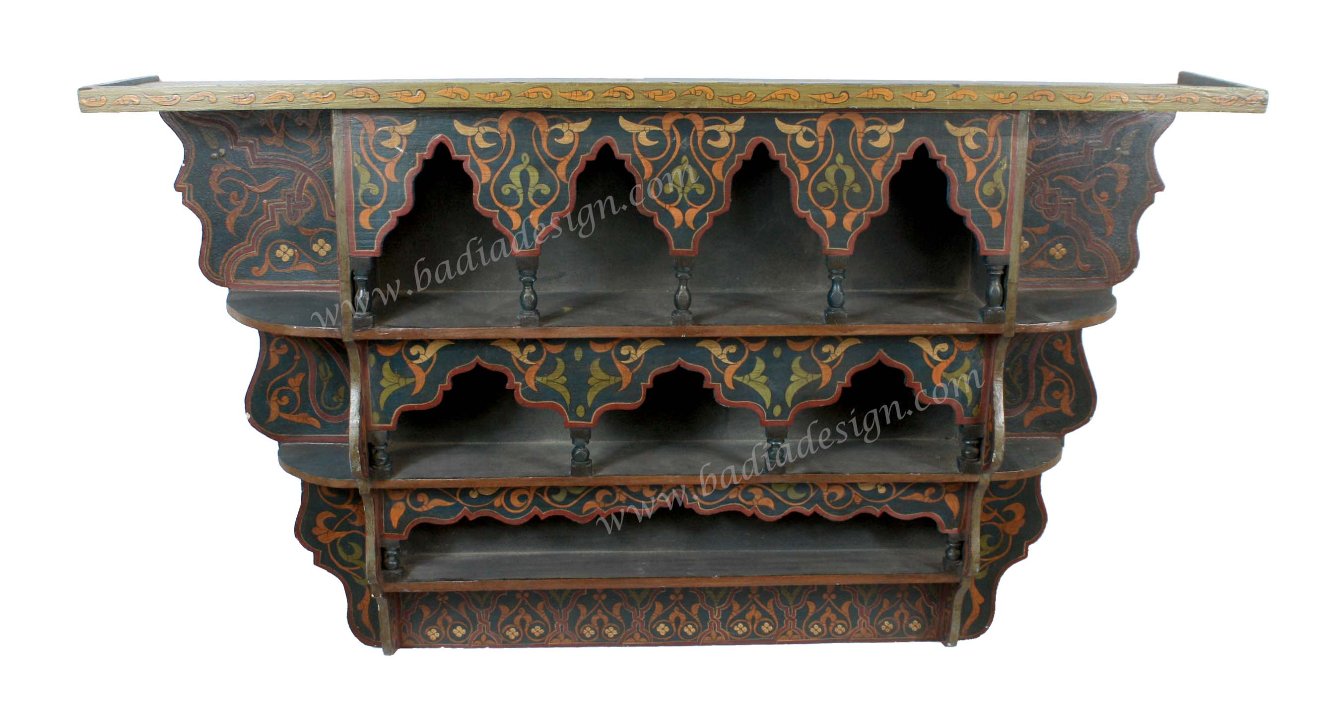 Moroccan Wooden Wall Shelf