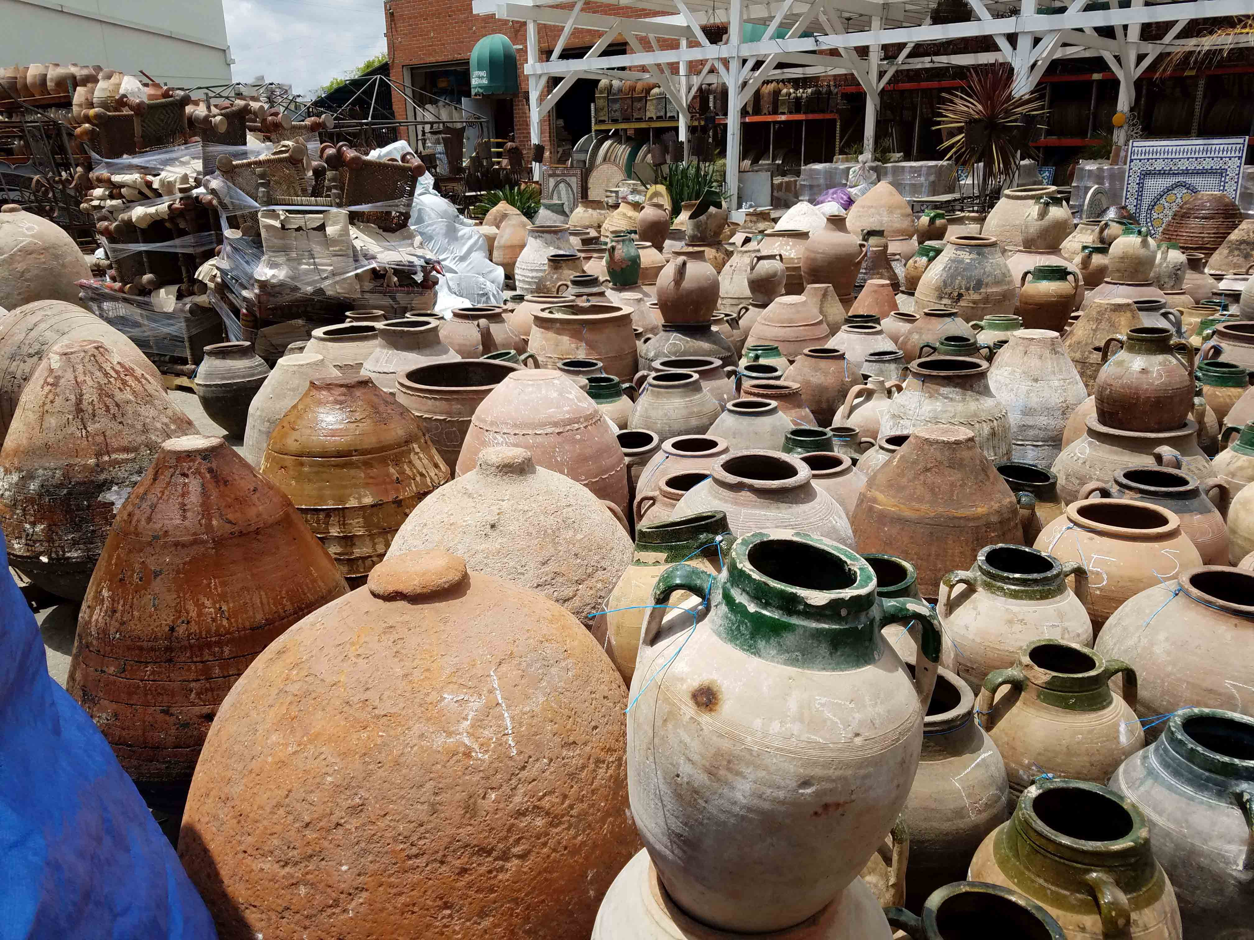 Overstock of Vintage Clay Jars