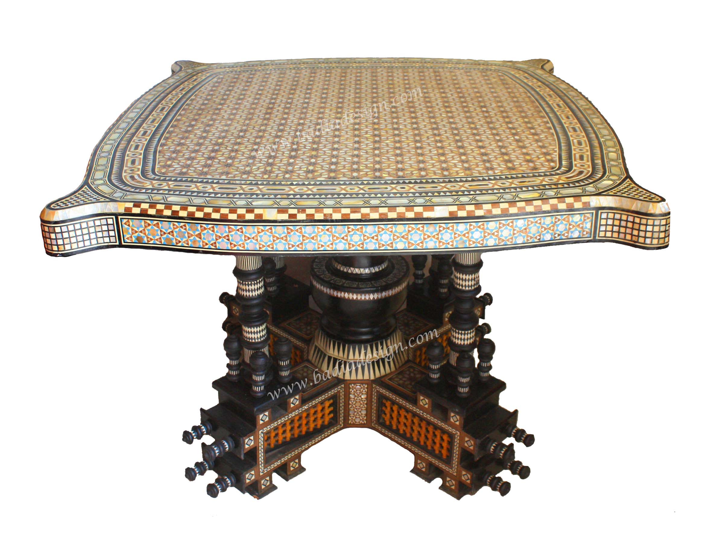 Syrian Design Inlaid Table