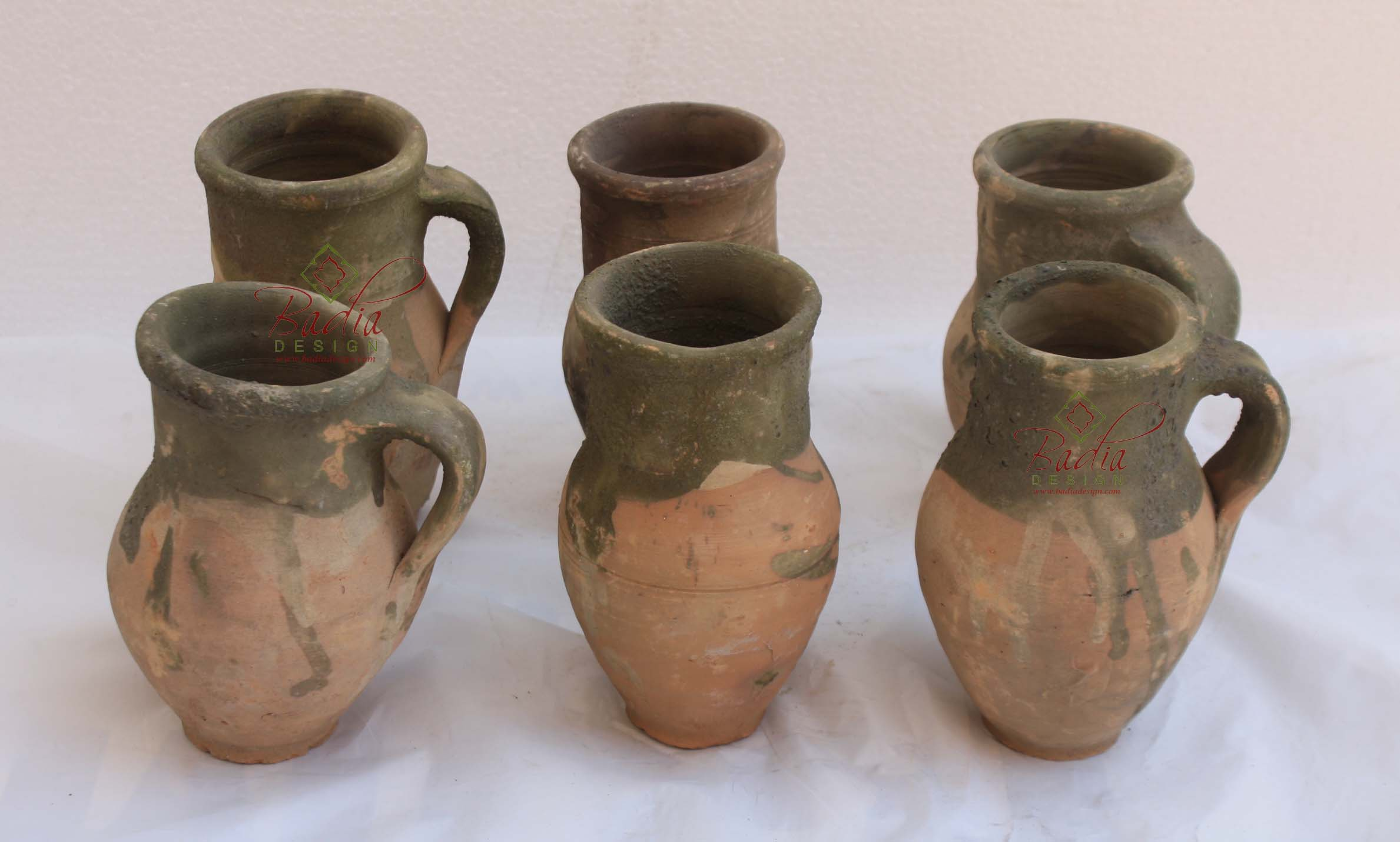 Vintage Clay Cups from Turkey