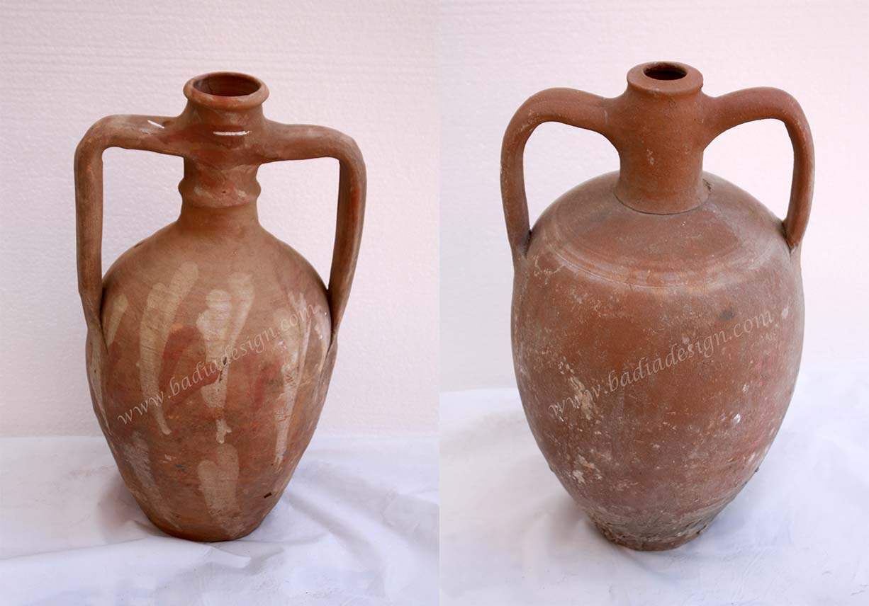 Vintage Clay Jar Imported from Turkey