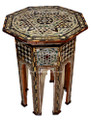 Mother of Pearl Inlaid Handcrafted Wooden Side Table MOP-ST005