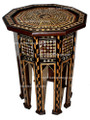 Mother of Pearl Inlaid Handcrafted Wooden Side Table - MOP-ST010