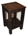 Hand Carved Wooden Square Side Table - CW-ST011