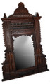 Carved Wood with Mother of Pearl Inlay Mirror M-MOP006