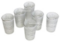 Silver Motif with White Frosted Tea Glasses TG016