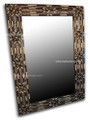 Square Camel Bone-Metal-Horn Mirror M-MB009