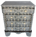 Mother of Pearl Inlaid 4-Drawer Dresser with White Marble Top MOP-DR012