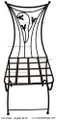 Wrought Iron Chair IC16