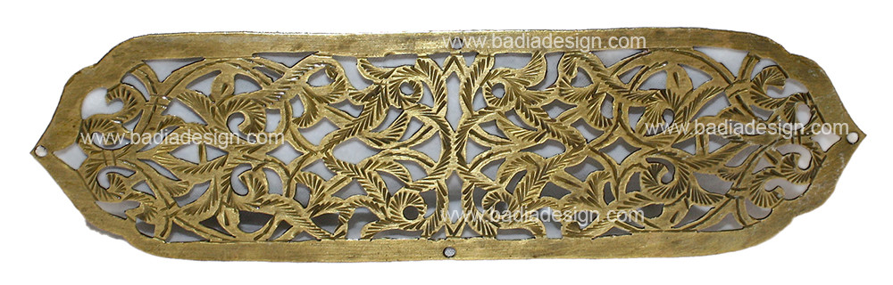 Moroccan Hand Punched Decorative Brass Plate
