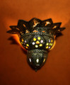 Silver Metal with Multiple Colored Glass Eyes Wall Sconce WL027