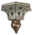 Metal Wall Sconce with Multi Color Glass - WL034