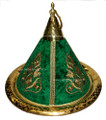 Large Brass Serving Tagine with Embroidery Fabric HD114
