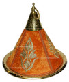 Brass Serving Tagine with Embroidery Fabric HD113-ORG
