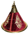 Brass Serving Tagine with Embroidery Fabric HD113-BUR