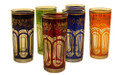 Multiple Color with Gold Floral Motif Tall Tea Glasses TG013