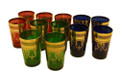 Multiple Color with Gold Floral Motif Tea Glasses TG014