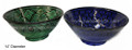 14 Inch Hand Painted Green Floral Ceramic Bowl CER-B006
