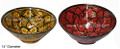 14 Inch Hand Painted Floral Ceramic Bowl - CER-B006