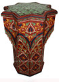 Moroccan Hand Painted Tile Top Side Table - HPS915