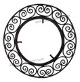 Wrought Iron Round Mirror Frame IP017