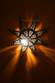 Rustic Iron Star Wall Sconce WL097