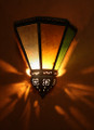 Rustic Iron with Colored Glass Wall Sconce WL110