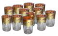 Gold Floral Motif Clear Tea Glasses TG033