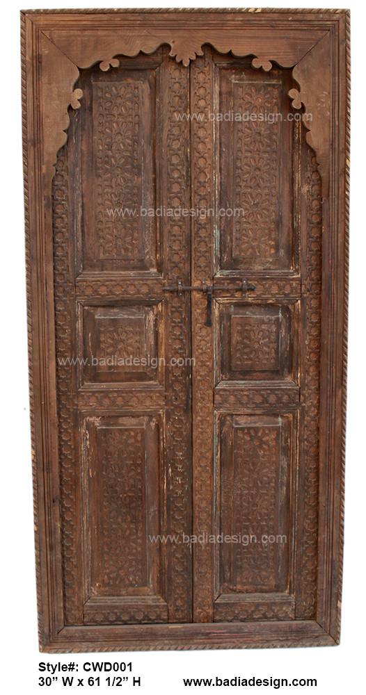 Hand Carved Wooden Door