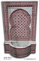 Mosaic Tile Straight Top Wall Fountain MF616