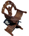 Mother of Pearl Inlaid Handcrafted Wooden Chair MOP-CH013