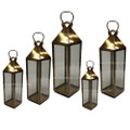 Brass with Clear Glass Lantern - LL076